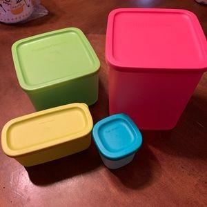 Tupperware Square Cubix Containers Set
